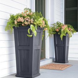 Lexington Tall Self-Watering Planter - I've always loved containers flanking the front door. They draw the eye in and stylishly welcome visitors.
