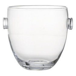 Park Wine-Champagne Bucket - A bottle of bubbly nestled in ice is a lovely sight, especially when viewed through our classic-meets-contemporary handcrafted glass bucket. Wide bowl tapers its silhouette as it thickens to a solid sham base. Prunt handles add a dollop of design.