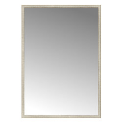 """Posters 2 Prints, LLC - 57"""" x 81"""" Libretto Antique Silver Custom Framed Mirror - 57"""" x 81"""" Custom Framed Mirror made by Posters 2 Prints. Standard glass with unrivaled selection of crafted mirror frames.  Protected with category II safety backing to keep glass fragments together should the mirror be accidentally broken.  Safe arrival guaranteed.  Made in the United States of America"""