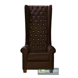 Floretina Baroque Tall Wingback Accent Chair with Crystals -