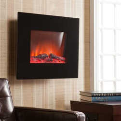 Southern Enterprises Onyx Wall Mount Electric Fireplace - If anyone should suggest that the Southern Enterprises Onyx Wall Mount Electric Fireplace is just a modern version of the fireplace video, make them stand outside in the cold while you enjoy this stunning and innovative electric fireplace. This innovative fireplace offers two settings that use 1300 watts to add heat and sleek, modern style to any space. The look of flickering flames and glowing embers add the classic charm that you'd expect from any fireplace, but the front panel of thick, black glass gives it a shiny, fashion-forward style. A remote control and simple pushbutton operation makes it easy to get the warmth that you need and dimmer lights can be set to create the perfect ambiance for any situation. You don't need any special ventilation, and all the necessary power can be supplied by just plugging into a regular wall outlet. A thermal overload protector helps ensure safe operation. Just find a stud and use the included mounting hardware to add this stunning and functional piece to your space.About SEI (Southern Enterprises, Inc.)This item is manufactured by Southern Enterprises or SEI. Southern Enterprises is a wholesale furniture accessory import company based in Dallas, Texas. Founded in 1976, SEI offers innovative designs, exceptional customer service, and fast shipping from its main Dallas location. It provides quality products ranging from dinettes to home office and more. SEI is constantly evolving processes to ensure that you receive top-quality furniture with easy-to-follow instruction sheets. SEI stands behind its products and service with utmost confidence.