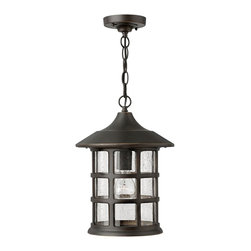 Hinkley Lighting - Hinkley Lighting 1802OZ Freeport Transitional Outdoor Hanging Light - Freeport features a classic New England design in cast aluminum construction complemented by clear seedy glass for a timeless traditional style that will complement a variety of exteriors.