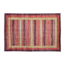 1800-Get-A-Rug - Oriental Rug Hand Knotted Rug Striped Modern Gabbeh Sh9397 - About Modern & Contemporary
