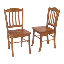 Boraam - Boraam Shaker Wood Dining Side Chair in Oak (Set of 2) - Boraam - Dining Chairs - 30136 - Boraam's high quality products are well styled and priced right.  Benefitting from years of experience in the industry Boraam knows what you look for in quality furniture and takes pride in getting orders out as diligently as possible. Feel confident that Boraam will take your living space to another level.