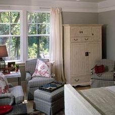 Checkered Gray Master Bedroom - MyHomeIdeas.com