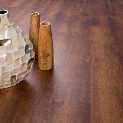 "Gofloors - Khaya Mahogany Vinyl Plank Flooring Sample - This is a high-quality, 12"" sample of our vinyl plank flooring."