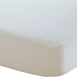 Coyuchi - Organic Cotton Mattress Protector Crib Natural - 100% organic cotton, 13 oz. flannel lays the perfect foundation for your baby's organic crib. Thick, absorbent flannel, protects the mattress without a lot of extra layers and batting. Designed to be the most natural cover with minimal processing and treatment, our protector is natural in color because it is un-dyed, perfect for even our most sensitive customers. A unique construction of flannel on top and sides with elastic on all sides for a secure fit on the mattress.