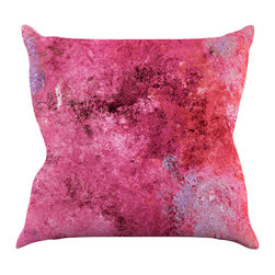 """Kess InHouse - CarolLynn Tice """"Cotton Candy"""" Red Pink Throw Pillow (18"""" x 18"""") - Rest among the art you love. Transform your hang out room into a hip gallery, that's also comfortable. With this pillow you can create an environment that reflects your unique style. It's amazing what a throw pillow can do to complete a room. (Kess InHouse is not responsible for pillow fighting that may occur as the result of creative stimulation)."""