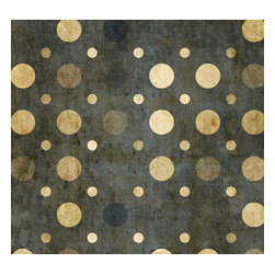 Removable Wallpaper-Weathered Dots-Peel & Stick Self Adhesive, Olive, 24x120 - Couture WallSkins.  Your wall will love you for this.