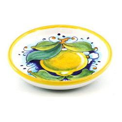 Artistica - Hand Made in Italy - Limoni: Bottle/Glass Coaster Lemon - Limoni Collection: