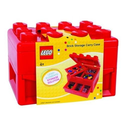 Lego Deluxe Brick and Minifigure Storage Carrying Case with Pull Out Drawer - This Lego storage box actually looks like a Lego. I like the idea of getting these in an assortment of colors and color-coding the Lego collection.