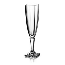 Jay Import Co. - Fitz and Floyd Gemini Crystal Flutes - Set of 4 - Fitz and Floyd has created a stunning set of flute goblets, sure to accent any kitchen set. These beautiful chalices are made of solid Glass and must be hand washed for best quality.