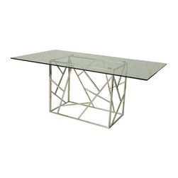 Pastel - Contemporary Dining Table - The Firouzeh dining table with a unique and intricate design. This beautifully made table will add style and beauty to your dining area.
