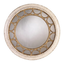 Stanley Furniture - Archipelago-Moor Island Ring Mirror - Our Moor Island Ring Mirror conjures many things nautical without being overbearing about it. There are suggestions of ocean waves, a ship's wheel, the face of a compass, a solunar pattern. It's all of those  and nothing more than gloriously simple circles and repeated semi-circles. A mirror to get lost in.