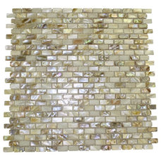 south sea pearls mini brick pattern glass tile - shop glass tiles at glasstilest