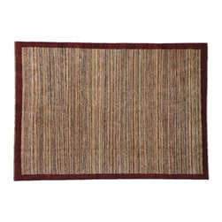 Striped Oriental Rug, Gabbeh Peshawar 5'X6' 100% Wool Hand Knotted Rug SH7791 - Our Modern & Contemporary Rug Collections are directly imported out of India & China.  The designs range from, solid, striped, geometric, modern, and abstract.  The color schemes range from very soft to very vibrant.