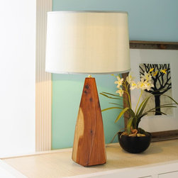Artisan Wood Camphored Prism Lamp Base -3 Finishes -