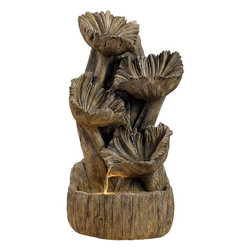 "Kenroy Home - Kenroy Home 50005AWD Lighted Fountain, Inspired by Guatemalan Wood Flowers - Lighted Fountain, Inspired by Guatemalan Wood Flowers  Inspired by Guatemalan ""wood flowers"", this gorgeous piece combines the charm of the outdoors with soft illumination and flowing water."