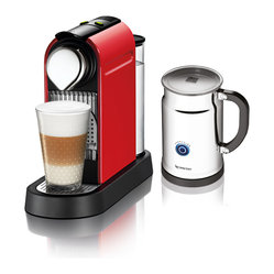 Nespresso CitiZ C111 Fire Engine Red ECO/Aero+ Bundle