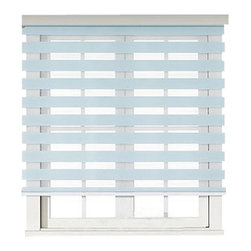 "Blinds-US - Roller Zebra Blind / Light filtering sheer shade, Light Blue, 36""in W X 72""in L - Product Description"