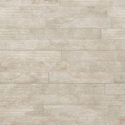 "La Fabbrica - Seaside Wood Blend Antigue-Light Beige Matte 6.4"" x 38.5"" - 10.00 Square Feet per Carton"