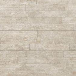 "La Fabbrica - Seaside Wood Blend Antigue-Light Beige Matte 6.4"" x 38.5"" - 10.00 Square Feet per Carton"