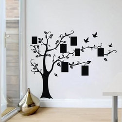 ColorfulHall Co., LTD - Tree Wall Decals Removable Picture Art Dcor with Birds Family Tree Photo - Tree Wall Decals Removable Picture Art Dcor with Birds Family Tree Photo