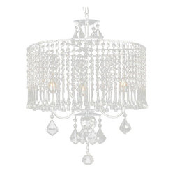 "The Gallery - Contemporary 3-light Crystal chandelier Lighting with Crystalhade - 100% crystal chandelier. A Great European Tradition. Nothing is quite as elegant as the fine crystal chandeliers that gave sparkle to brilliant evenings at palaces and manor houses across Europe. This beautiful chandelier has 3 Lights and is decorated and draped with 100% crystal that captures and reflects the light of the candle bulbs. The timeless elegance of this chandelier is sure to lend a special atmosphere anywhere its placed! Assembly required. W 16"" x H 21"". 3 Lights."