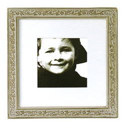 Obrien Schridde Designs - Ivy Frame, Warm Grey - A sweet shabby looking frame with a vintage style and a delicate ivy lined pattern. Comes with a museum quality matte board to give it a finished feel.
