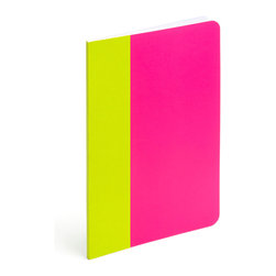 Poppin - Thin Notebook, Snowcone - Forget little black books. Let your love and creative juices flow with these slim notebooks in bold color combinations. Each 5-by-8-inch journal has 64 custom-ruled pages, acid and lignin free paper and features a stitch-bound cover.