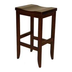 """Michael Anthony Furniture - Handcrafted Amish Mission Barstool - """"Handcrafted Amish Mission Barstool is made from solid North American brown maple hard wood. This product crafted by Amish wood craftsman of the finest wood and finish."""""""