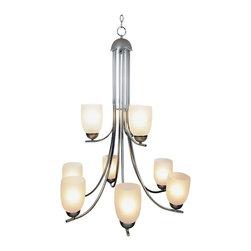 Premier - Essen Lighting 29 inch by 37 inch H 9 Light Pendant - Chrome - Premier Faucet Lighting: Premier Essen 617511 9 Light Chandelier Light Fixture.