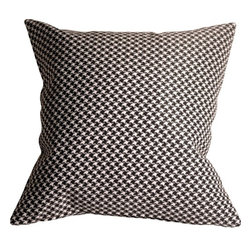 Pillow Decor Ltd. - Pillow Decor - Houndstooth 18 x 18 Classic Throw Pillow - This fun throw pillow features circles in shades. The circles are soft chenille.