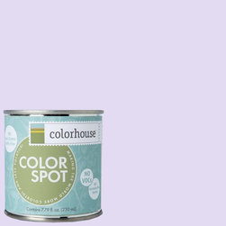 ColorSpot Eggshell Interior Paint Sample, Sprout .07,  8-oz - Test color before you paint with the Colorhouse Colorspot 8-oz  paint sample. Made with real paint and in our most popular eggshell finish, Colorhouse paints are 100% acrylic with NO VOCs (volatile organic compounds), NO toxic fumes/HAPs-free, NO reproductive toxins, and NO chemical solvents. Our artist-crafted colors are designed to be easy backdrops for living.