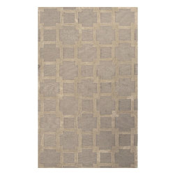 Jaipur Rugs - Jaipur Rugs Hand-Tufted Looped & Cut Polyester Gray/Tan Area Rug, 5 x 8ft - A grouping of rugs that effortlessly will work with any decor. Tonal patterns and color enhance the loop and cut pile construction of this collection.