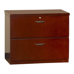 Mayline - Mayline Mira 2 Drawer Freestanding Lateral File in Medium Cherry - Mayline - Filing Cabinets - MLF23624MC -