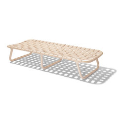 Normann Copenhagen Camping Series Daybed - This is not exactly a couch, but I love this bench nonetheless. The wood gives it a warm feeling, and it would look great with another simple sofa.