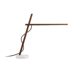 Pablo Designs - Clamp Freestanding Table Lamp in Walnut - Features:
