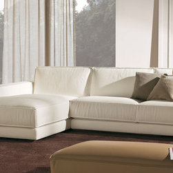 Soft Sofa/Sectional - Comfortable sofa with movable back cushions for various back cushion heights. Contact info@casaspazio.com for more information.
