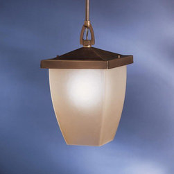 """Kichler - Benton Outdoor Ceiling Pendant in Old Bronze - This outdoor pendant is part of the New Street collection. Suitable for wet conditions, made of solid brass and with a old bronze finish; this lantern is a delicate piece to add to your exterior landscape. The light umber diffuser gives off an inviting light. Features: -Outdoor ceiling pendant -Benton collection -Old bronze finish -Light umber diffuser -Solid brass body material -One incandescent bulb (not included), Medium bulb base, max 150W - 120V -Extra lead wire provided: 112"""" -UL and/or CSA listed use: Suitable for damp locations -Overall dimensions: 15.5"""" H x 9"""" W About Kichler: Kichler Lighting is a four-time winner of the Arts Award as Lighting Manufacturer of the Year. The highest accolade our lighting industry can give. Today they are the leading decorative lighting fixture company in the world. Founded in 1938, Kichler remains a privately held, family owned and run business staffed by people who understand decorative home lighting fixtures and who care about their customers. Kichler has built their reputation on original, design-oriented, high quality lighting products at competitive prices, backed by the finest customer service in the industry. Helping to make your house a home is their job and our number one priority. They do this by providing their customers with the widest assortment of home lighting fixtures and home decor accessories in the industry. The Kichler family of brands offers lighting for every room in your home, designed to fit every pocketbook, offering choices to complement your lifestyle and tastes."""