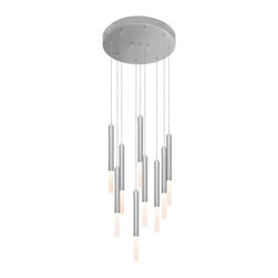 Robert Sonneman Lighting - Robert Sonneman Lighting 2219.16 Wands 9 Light Pendants in Bright Satin Aluminum - Wands 9-Light LED Round Pendant