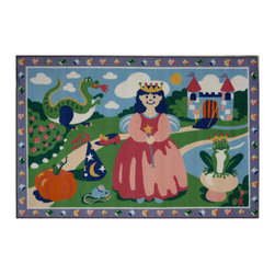 """Fun Rugs - Happily Ever After Olive Kids Collection Rug - 39"""" x 58"""" - This colorful rug has happily ever after design Collection Name: Olive Kids; 100% Nylon Dimensions: 39"""" x 58"""""""