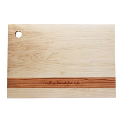 Richwood Creations - Craft Wood Cutting Board - We may be slightly biased, but the BRIKA-inspired message on this exclusive Richwood Creations cutting board is speaking to us. With our mission to create a community of like-minded Makers, this board serves as a little reminder that A Well-Crafted Life is ours to create.