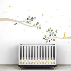 Littlelion Studio Follow the Little Rabbit Tree Branches Wall Decal - Littlelion Studio Follow the Little Rabbit Tree Branches Wall Decal