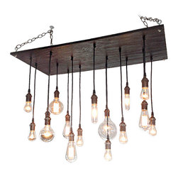 Industrial Lightworks - Modern Chandelier with Oil Rubbed Bronze Sockets - Rustic Chandelier