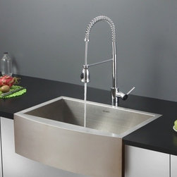 Ruvati - Ruvati RVC2456 Stainless Steel Kitchen Sink and Chrome Faucet Set - Ruvati sink and faucet combos are designed with you in mind. We have packaged one of our premium 16 gauge stainless steel sinks with one of our luxury faucets to give you the perfect combination of form and function.