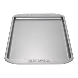 Farberware - Farberware Bakeware 10-inch by 15-inch Cookie Pan - Sturdy,durable bakeware from Farberware will stand up through numerous years of bakingBakeware has oversized handles to allow a secure grip on hot pansNonstick bakeware is the perfect addition to any baker's kitchen