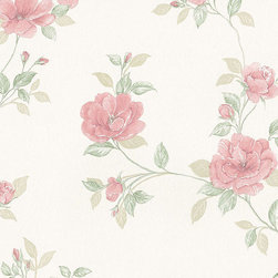Floral in Salmon - MD29439 - Collection:Silk Impressions