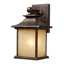 Elk Lighting - Elk Lighting 42180/1 San Gabriel 1-Light Outdoor Sconce in Hazelnut Bronze - 1-Light Outdoor Sconce in Hazelnut Bronze belongs to San Gabriel Collection by Elk Lighting During The Late 1800?��S And Early 1900?��S, Missionary Padres From Spain Created The California Mission Style, Which Was A Simplified Version Of Centuries Old Spanish Architecture.?� This Style Was Known For Its Simplicity Of Form With Minimal Ornamentation.?� The San Gabriel Collection Pays Homage To This Design Philosophy With Smooth, Architectural Lines And A Choice Of Hazelnut Bronze Or Tarnished Silver Finishes.  Sconce (1)