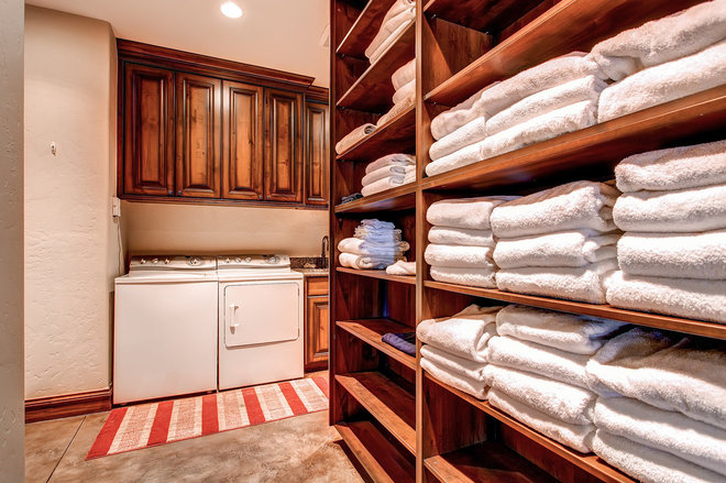 Traditional Laundry Room by Pinnacle Mountain Homes